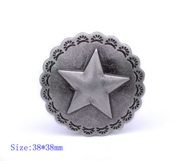 leathercraftconcho, Star, Jewelry, Vintage