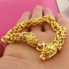 wristbracelet, yellow gold, Head, Fashion