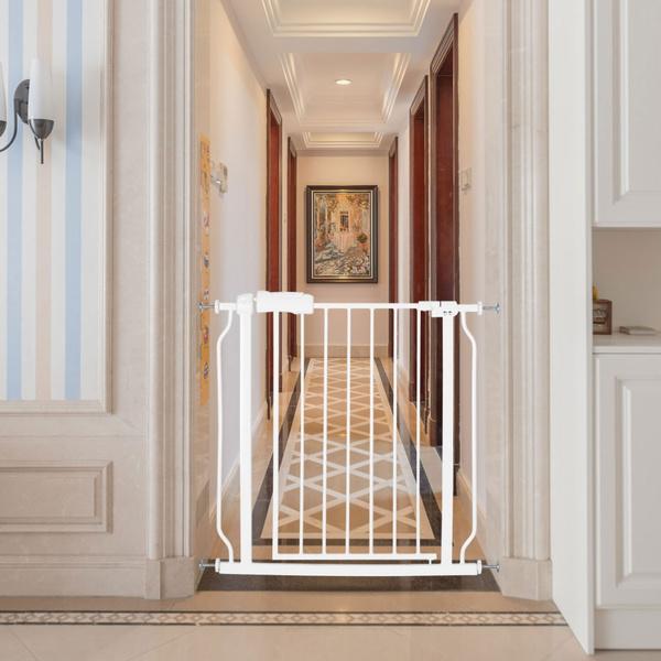 Adjustable Baby Metal Safety Door Indoor Cat Gate Pet Dog Door Fence Wish