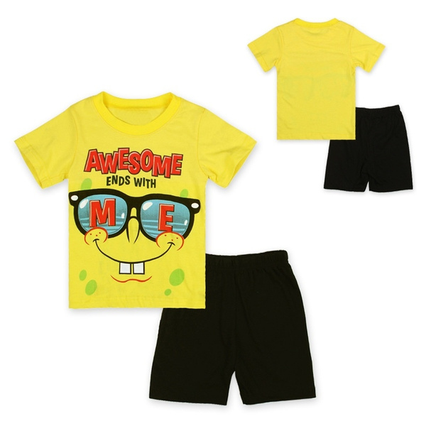 Summer, Shorts, Sleeve, Sponge Bob