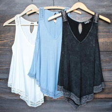 blouse, Summer, Vest, Fashion
