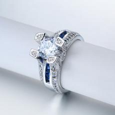 Heart, DIAMOND, 925 sterling silver, wedding ring