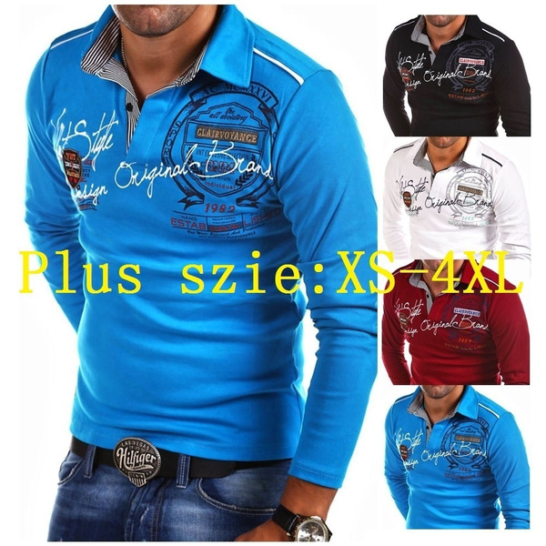 topsamptshirt, Polo Shirts, Long sleeved, Plus Size