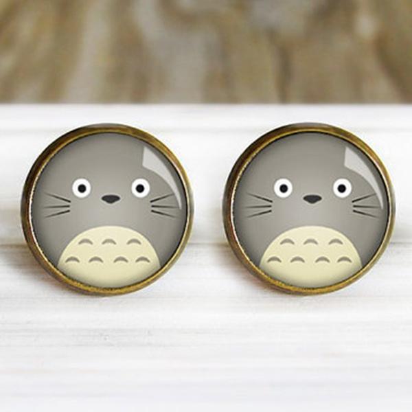 totorojewelry, studearringfortotoro, studioghiblistudearring, Totoro