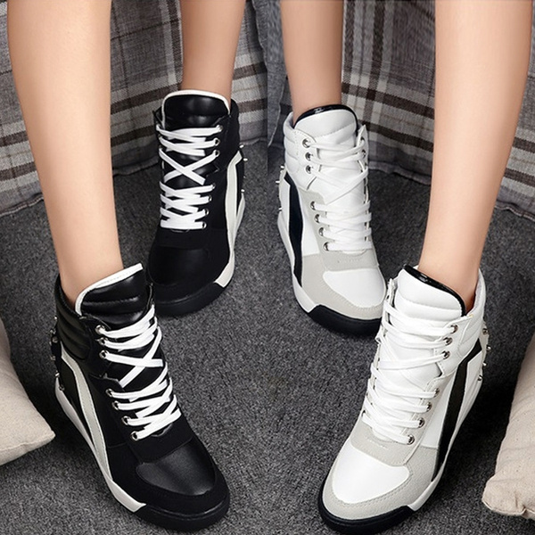 womensrivetboot, wedge, Sneakers, womenfashiontrainer