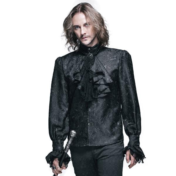 Goth, Fashion, britishstyleshirt, long sleeved shirt