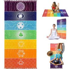 rainbow, Yoga Mat, Blanket, tasseltapestry