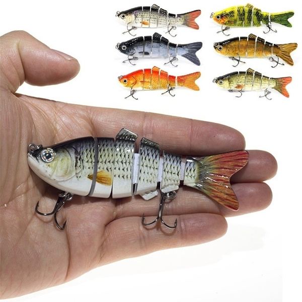 B5X0 Multi Jointed Fishing Lures Sinking Wobblers Swimbait Crankbait Bait Lure