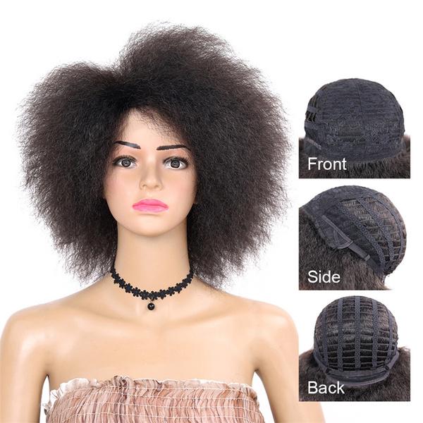 Black wig, braidedwigsforblackwomen, halfwigsforblackwomen, shortnaturalwig