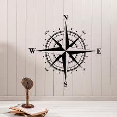 Decor, nauticalsticker, bedroomdecorsticker, Rose