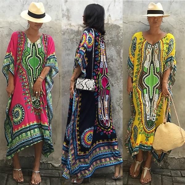 Summer, vintageboho, africanethnicprint, Dresses
