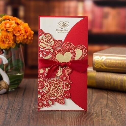 Card, Heart, Laser, invitationcard