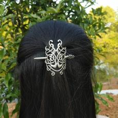 viking, knotworkhairpin, Women's Fashion, hair