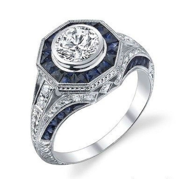 Antique, Sterling, DIAMOND, 925 sterling silver