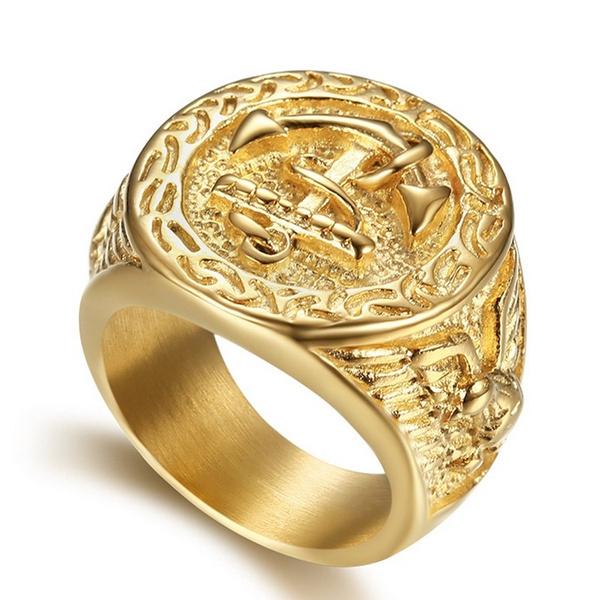 Men, Jewelry, gold, anchorring