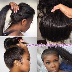 wig, straighthairwig, Lace, human hair