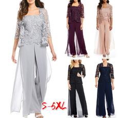 Women Pants, Plus Size, 3pieceset, high waist