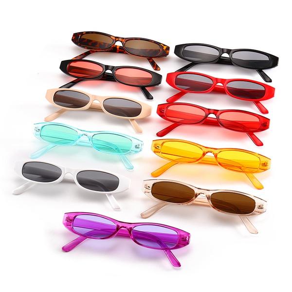 Vintage Rectangle Sunglasses Women Brand Designer Small Frame Sun Glasses Retro