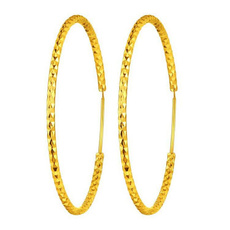 yellow gold, largering, Hoop Earring, Jewelry