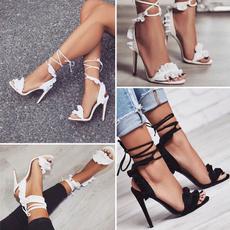 Summer, Sandals, ruffle, anklestrapheel