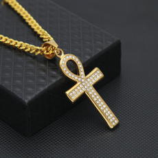 hiphopaccessorie, Cross necklace, Jewelry, gold