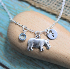 hippo, Love, Jewelry, Gifts