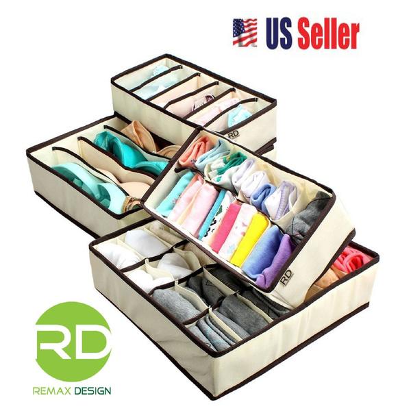 Storage & Organization, Underwear, collapsible, Beige