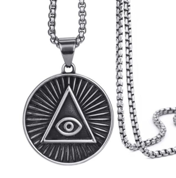 Steel, Men  Necklace, punk necklace, Jewelry