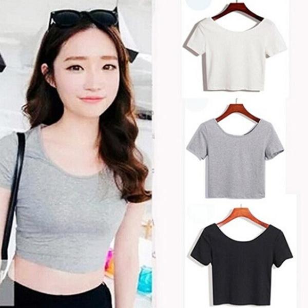 blouse, Women, Short Sleeve T-Shirt, Cotton T Shirt