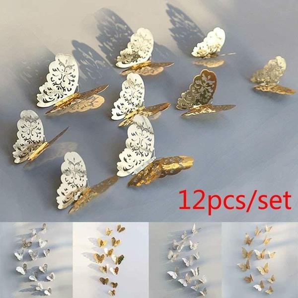 butterfly, wallstickersampmural, Jewelry, gold