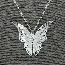 butterfly, DIAMOND, Jewelry, Hollow-out