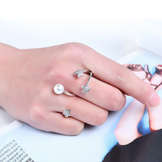 crystal ring, Star, Jewelry, pearls