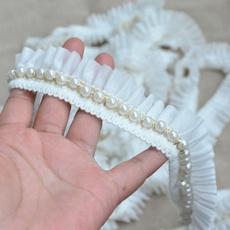 pearlslace, Lace, chiffon, lace trim