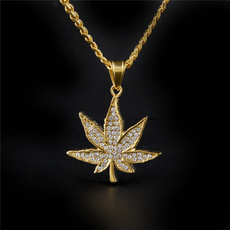 Steel, mens necklaces, leaf, Jewelry