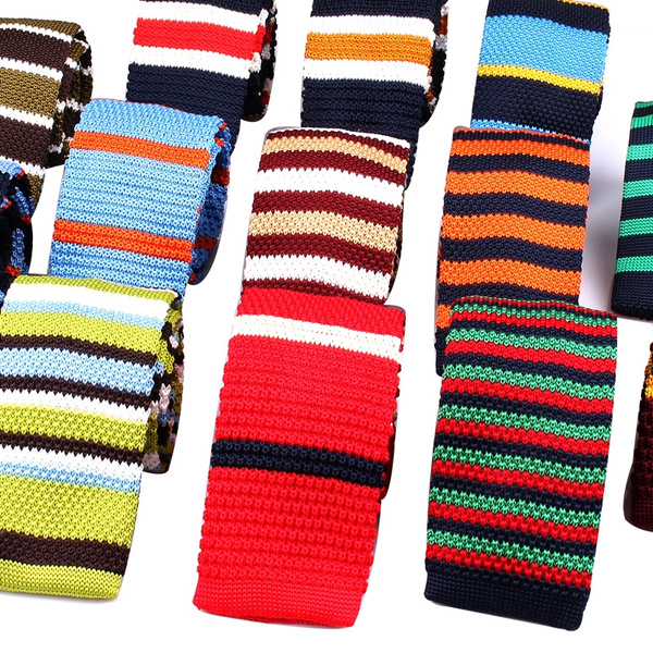 knittedtie, Polyester, Men, knittingtie