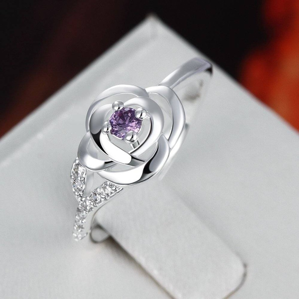 weddingengagementring, DIAMOND, Jewelry, sterlingsilverrosering