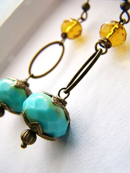 turquoisehoopearring, Turquoise, Dangle Earring, Jewelry