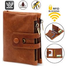 leather wallet, Shorts, rfidwallet, carterasdehombre