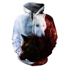 3D hoodies, Cotton, Fashion, unisex clothing