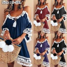 Tassels, Plus Size, Halter, womencasualclothing