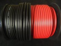 Black Amplifier Amp Power//Ground Wire Set 50 Ft SoundBox Connected 4 Gauge Red