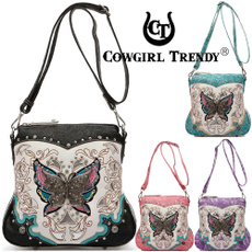 butterfly, Shoulder Bags, women purse, leather