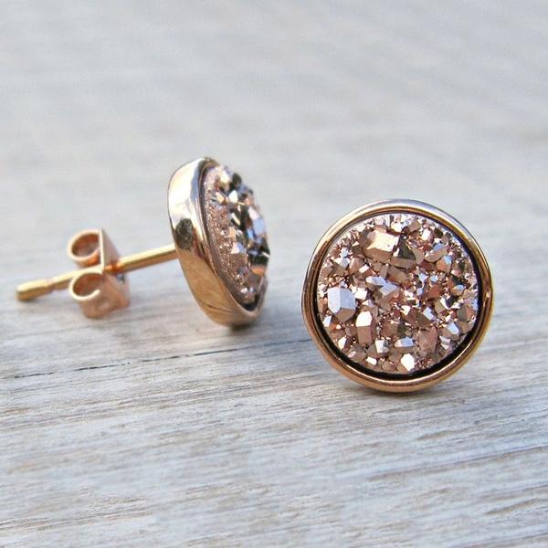 opalearring, 925 sterling silver, Gemstone Earrings, Stud Earring