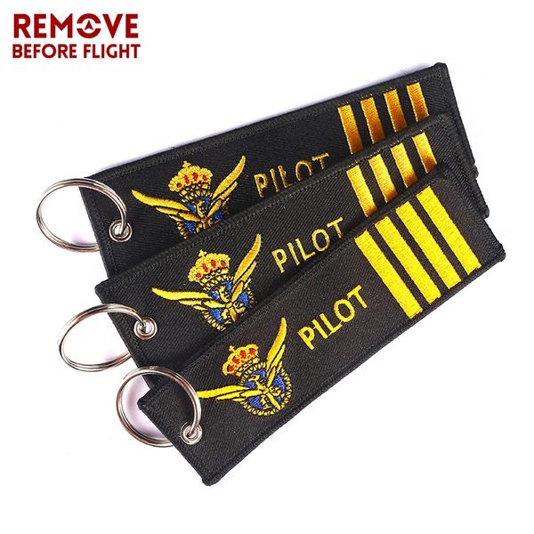 removebeforeflight, keychainsforpilot, Key Chain, Embroidery