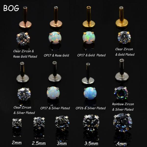 helixcartilage, Steel, lipringjewelry, Gemstone Earrings