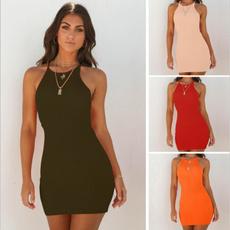Mini, slim dress, Slim Fit, Summer