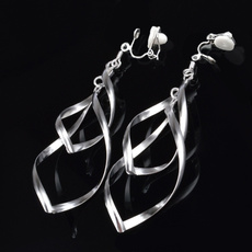 Dangle Earring, nohole, Stud Earring, noearhole