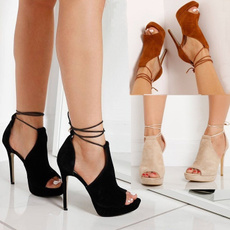 Summer, High Heel Shoe, fish, Ankle Strap