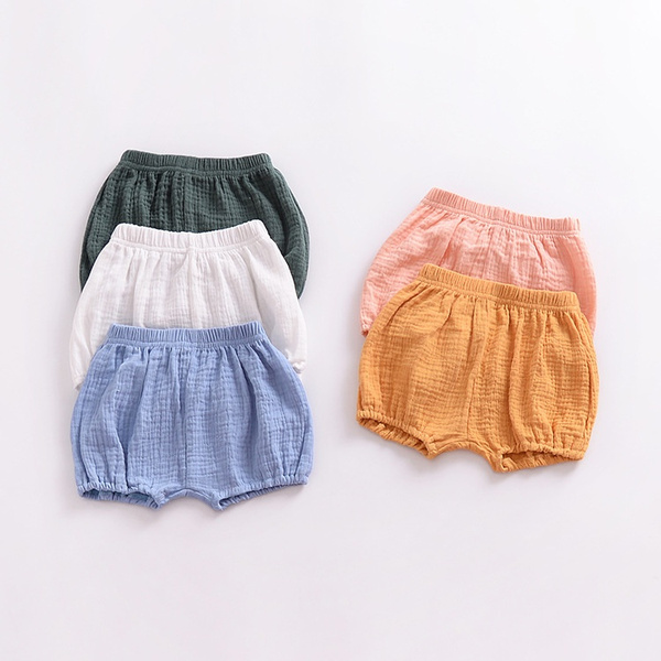 Summer, elastic waist, kids clothes, boxer shorts