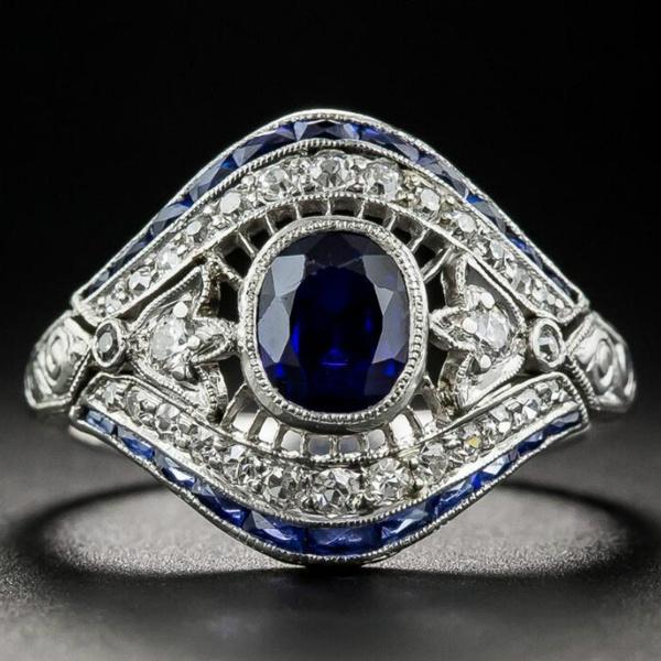 Vintage 925 Sterling Silver White Topaz Ring